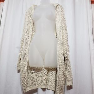 Beach cover up/netted long sleeve cardigan